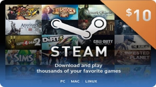 Steam Wallet Card 10$ CDKEY